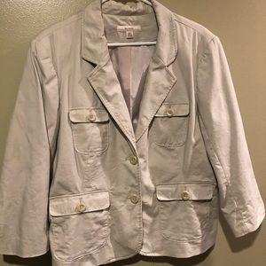 Merona Khaki Utility Jacket - XXL